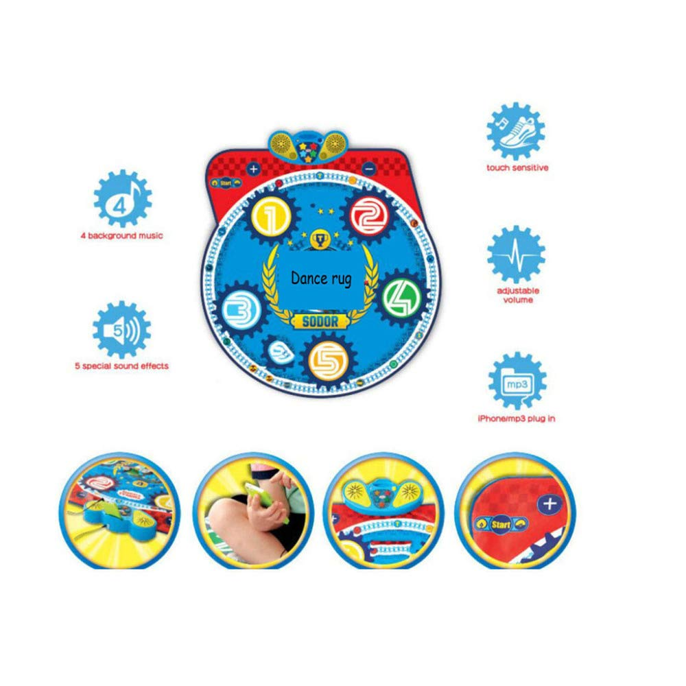QXMEI Dance Blanket Children Dance Blanket Early Education Toys with Sound Children's Music Foot Step Family Dance Blanket Product Size: 35.8inchs 36.6inchs by QXMEI (Image #2)