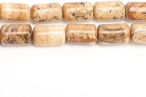 "Column Sea Sediment Jasper Crazy Lace Agate Tube Stone Beads Jewelry Making 15/"""