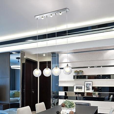 4-Head LED Lámpara colgante Moderno Elegante Arte Creativo Ronda ...
