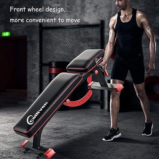 ALUK- Banco multifuncional con mancuernas, sentarse banco de ejercicio de entrenamiento plegable de la aptitud Banco de peso para entrenamiento completo del ...