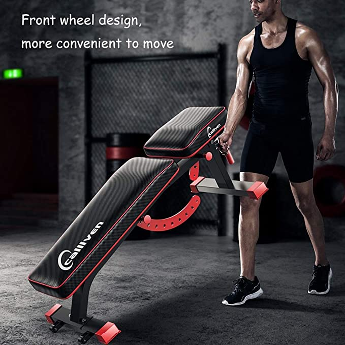 YXGH- Banco multifuncional con mancuernas, sentarse banco de ejercicio de entrenamiento plegable de la aptitud Banco de peso para entrenamiento completo del ...