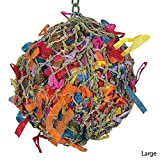 55101 Large Super Shredder Ball Bird Toy cages birds foraging toys parrot amazon