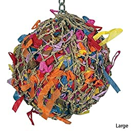 55100 Med. Super Shredder Ball Bird Toy cages birds foraging toys parrot amazon