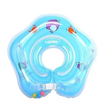OOFWY Nadar anillo, inflables ajustables niños, niño del flotador del cuello Traje anillo de la nadada por 1-18 meses de bebé , A: Amazon.es: Deportes y ...