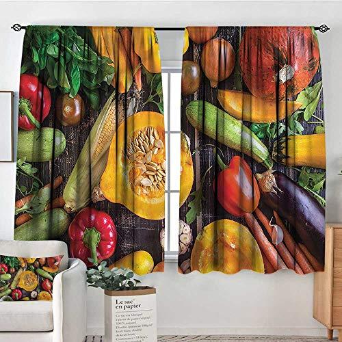 (Sanring Harvest,Bocking Ight Rod Curtains Fresh Vegetables Table 104