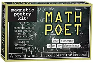 Magnetic Poetry - Math Poet Kit - Words for Refrigerator - Write Poems and Letters on the Fridge - Made in the USA