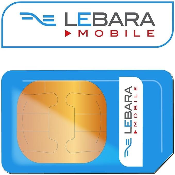 Lebara - Tarjeta multiSIM internacional 4G, recargable, incluye ...