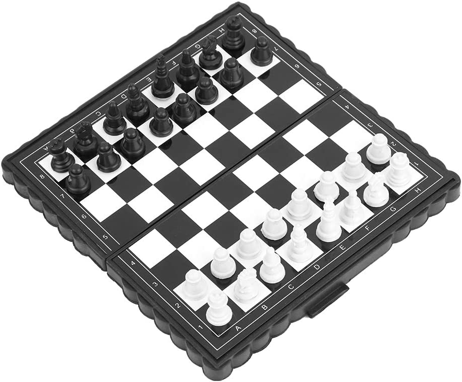 Folding Chess Magnetic Chess Set, Chessboard Chess, Chess Set for Kids for Party Family Activities Traveling
