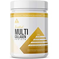 LevelUp Fortified Multi Collagen Protein Powder: Types I, Ii, Iii, V & X With Added Biotin, Hyaluronic Acid, Glucosamine…