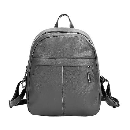 ENtinglere Borsa a tracolla scuola studente zaino in pelle da donna borsa  zaini da viaggio nero a6239d5d85b