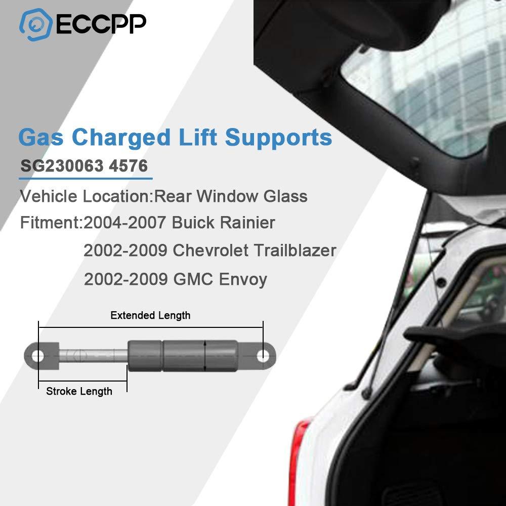 2 Arana Rear Hatch Gas Lift Supports for 2002-2009 Chevrolet Trailblazer or GMC Envoy or Buick Rainier Isuzu Ascender Oldsmobile Bravada or Saab 9-7x