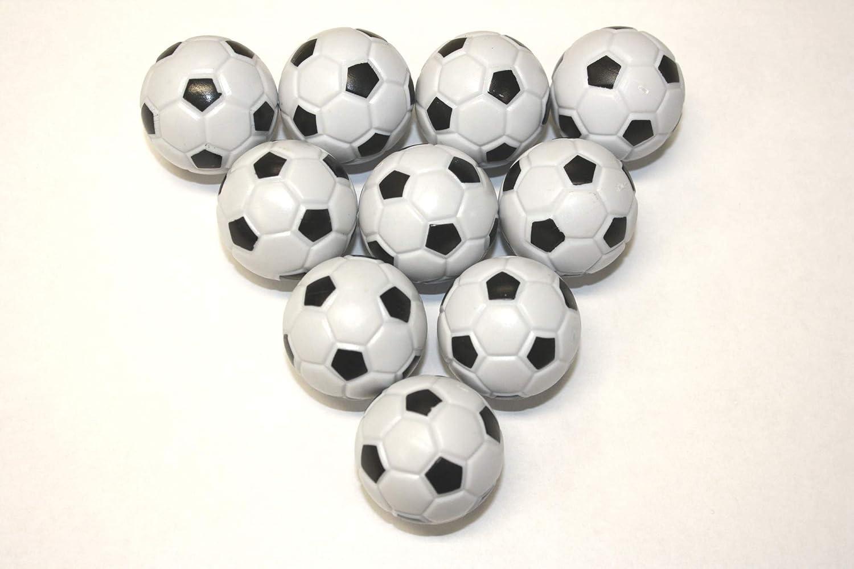 12x bolas de futbolín, color blanco/negro: Amazon.es: Electrónica
