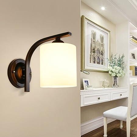 Met Love Lámpara de pared simple moda cálida dormitorio lámpara de noche pasillo escalera salón comedor personalidad lámpara de pared E27: Amazon.es: Hogar