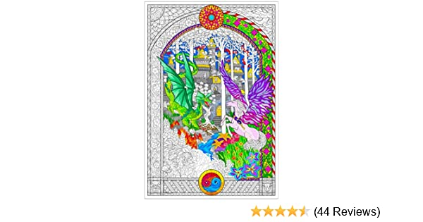 32½ x 22 Inches Giant Coloring Poster Dragon