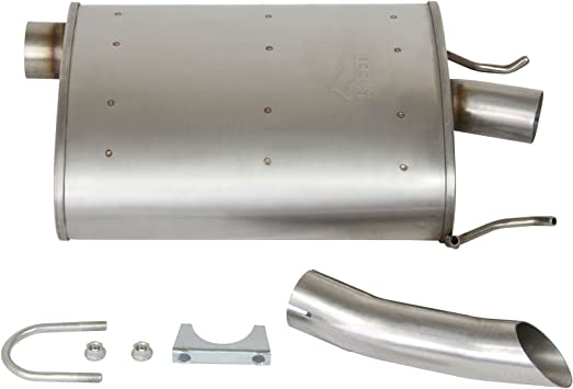 1pc Driver Side SS Quiet-Flow Muffler Exhaust For 03-08 Pontiac Grand Prix 3.8L