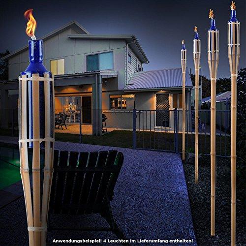 Terrasse 4 Décoration Torches Soirée Bleu Boum Bambou Feu Fête 5AqR34jL