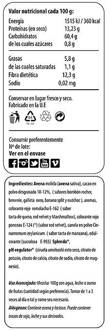 Max Protein Oatmeal Sac Harina de Avena - 1500 gr: Amazon.es: Salud y cuidado personal