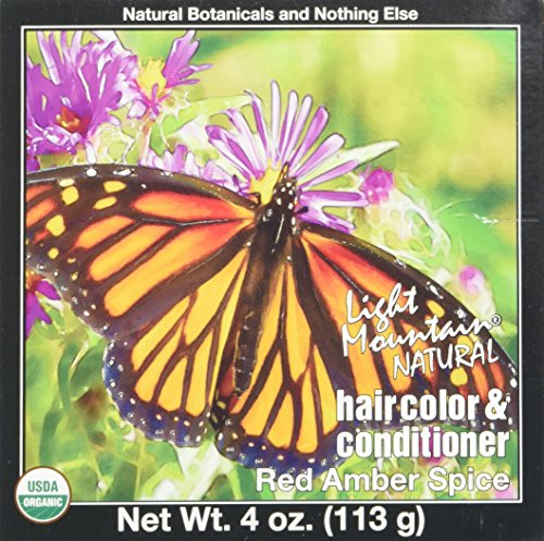 (LIGHT MOUNTAIN Hair Color Hair Color Red Amber Spice, 0.02)