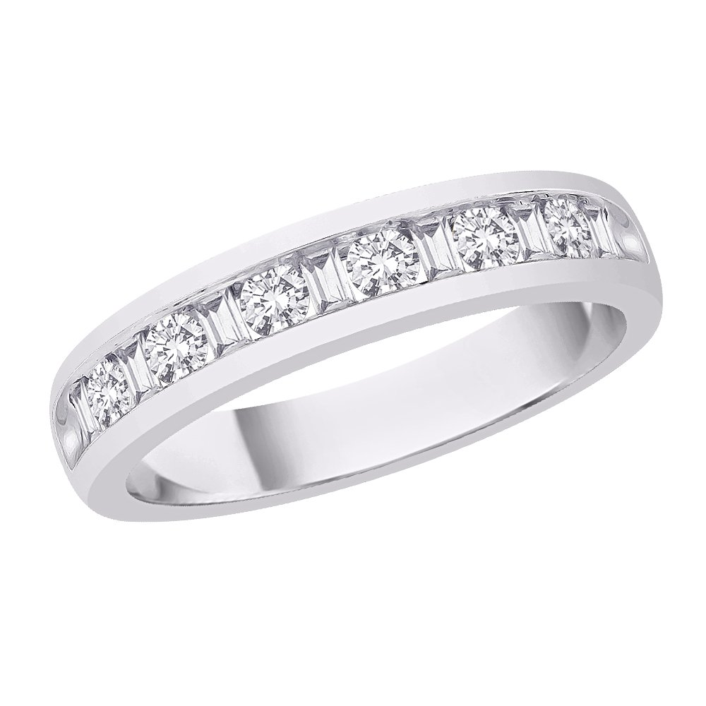 Size-13 Diamond Wedding Band in Sterling Silver 1//10 cttw, G-H,I2-I3