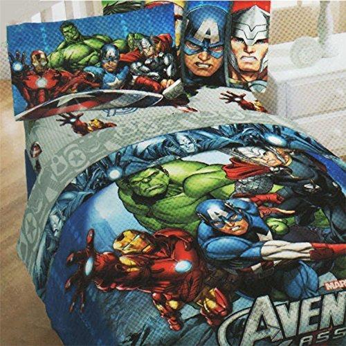 Marvel Comics Avengers Bedding Set Superhero Halo