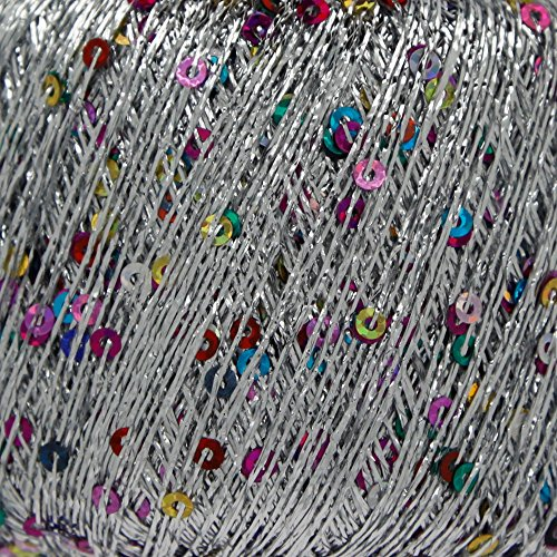 King Cole Cosmos Glitter Knitting Yarn Metallic Sequin Craft Thread 3 x 25g Balls (Starburst - - Starburst Ball