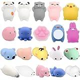 Mochi Squishy Toys, 12 Pcs Mochi Kawaii Mini Animals Anxiety Stress Relief Animal Toys, Random Color