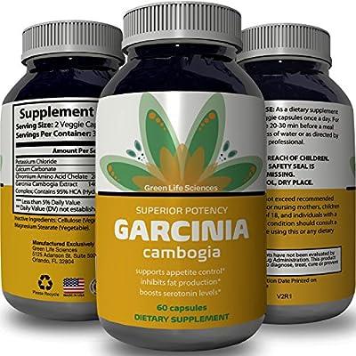 Premium Garcinia Cambogia Weight Loss Supplement - 95% HCA Fat Blocker Vitamins - Maximum Strength Appetite Suppressant Capsules - Metabolism & Energy Boost Pills - Detox For Men & Women - Greenlife