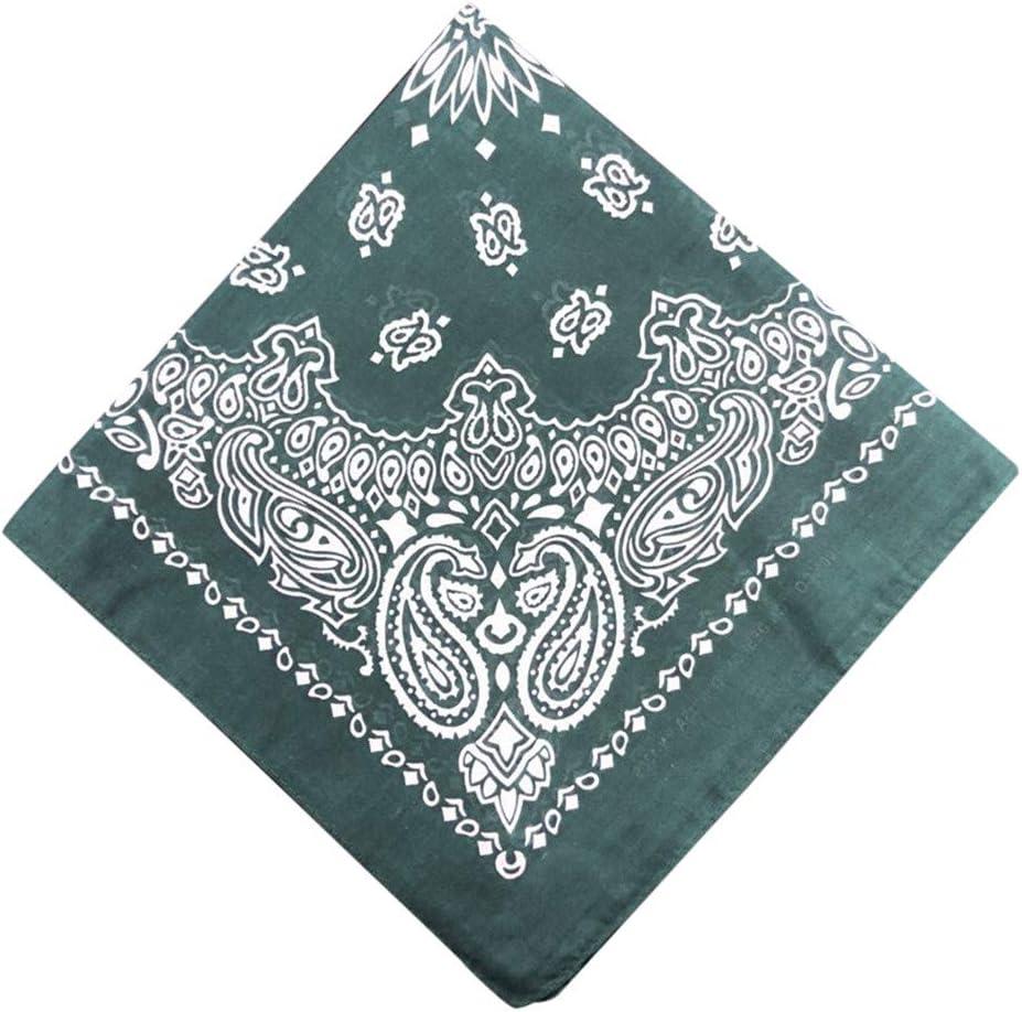 Rmeioel^ Bandanas 100/% Cotton Multi-Purpose Bandana Gift Sets Headband Wrap Protective Coverage Tie-Dyed Headscarf Paisley Scroll