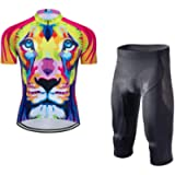Men's Bike Clothing Set Cycling Jerseys Road Bicycle Shirts Kit + Bib Shorts Quick-Dry Full Zipper Riding Clothes