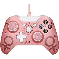 xuelili Controle com fio para Xbox one, controle do Xbox One com vibração dupla e design avançado, gamepad USB com porta…