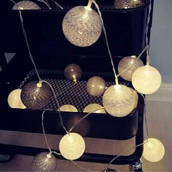 Guirnalda de luces navideñas, estilo vintage, pastel, algodón, guirnalda luminosa, para exteriores, interiores, ventanas, fiestas, bodas, etc.: Amazon.es: Iluminación