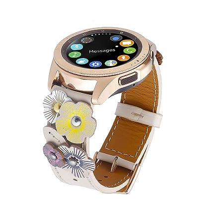 Amazon.com: FayTop - Correa de piel auténtica para reloj de ...