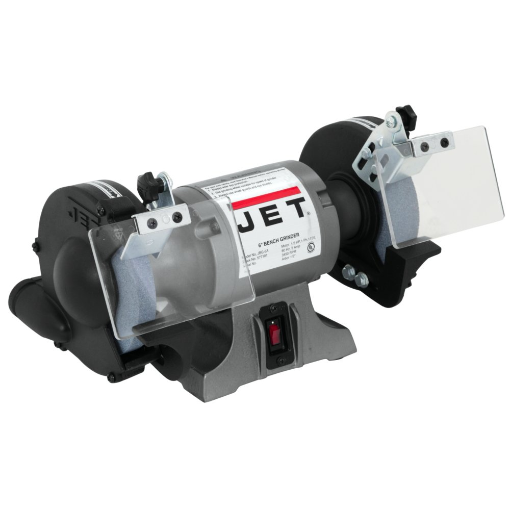 JET 577101 6-Inch Industrial Bench Grinder - Power Bench Grinders ...