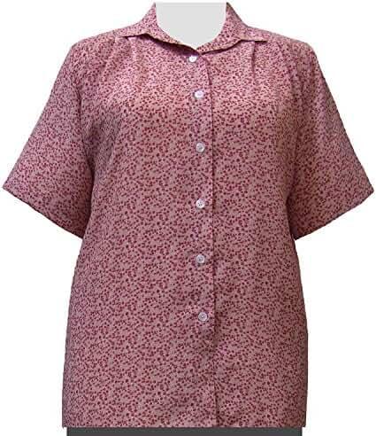 A Personal Touch Women's Plus Size Mauve Kris Short Sleeve Tunic