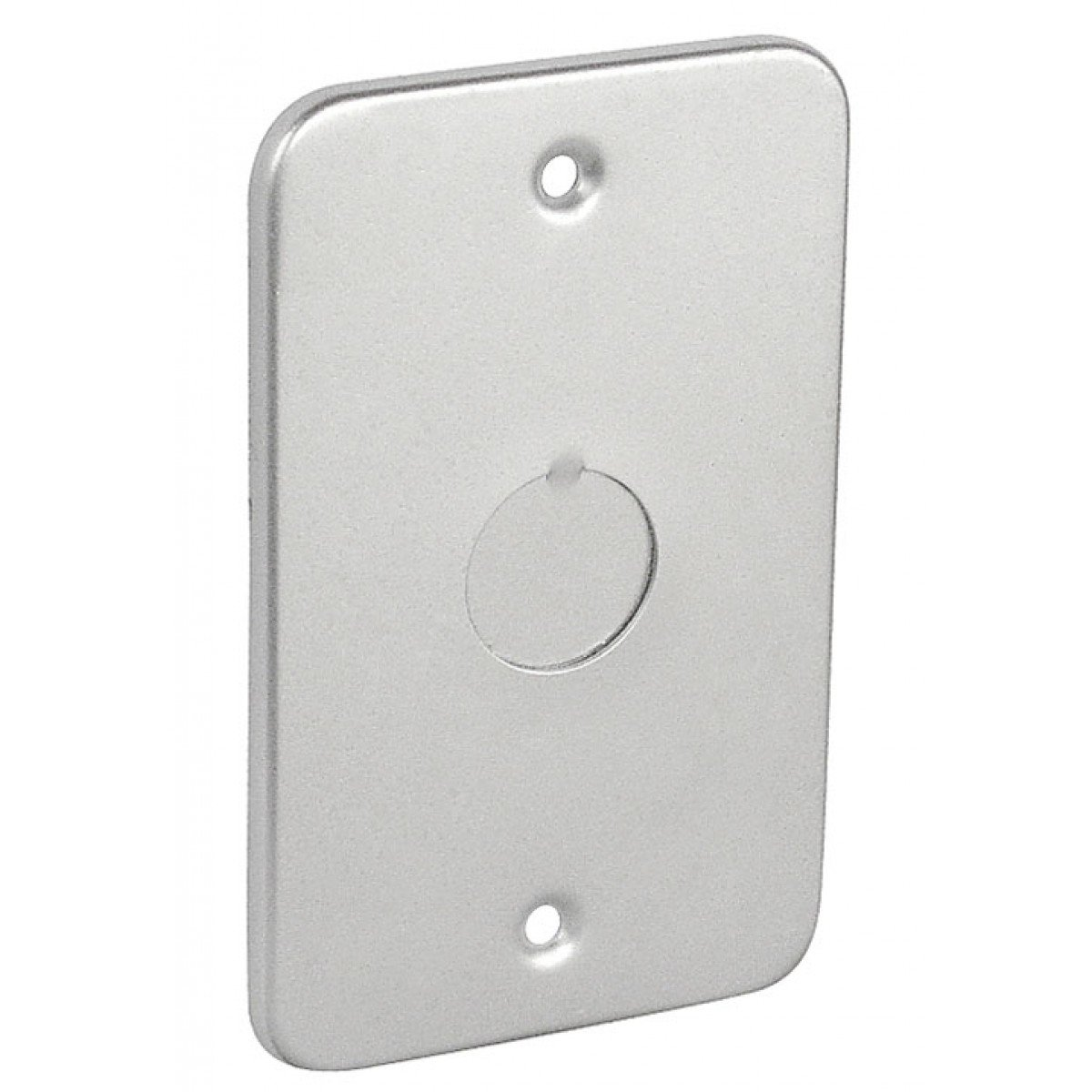 5 Pcs, Oversized 4-1/8 In. Long x 2-1/2 In. Wide x 1-7/8 In. Deep, Handy Box Cover w/1/2 In. Conduit Knockout, Zinc Plated Steel for Convenience Outlets, Switches & Small Junction Boxes