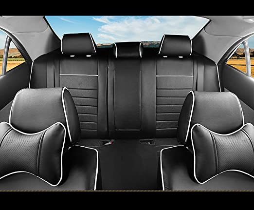 PEUGEOT 308 Leather Look MAYFAIR Black FRONT Car Seat Covers