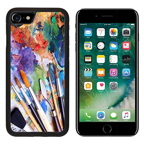 msd-premium-apple-iphone-7-iphone7-aluminum-backplate-bumper-snap-case-artists-brushes-and-oilpaints