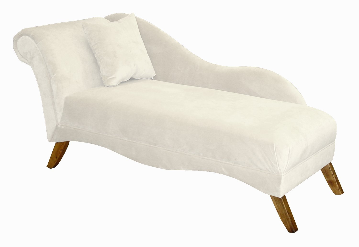 Amazon.com: Skyline Furniture Isabella Single Arm Chaise Lounge By In White  Velvet: Kitchen U0026 Dining