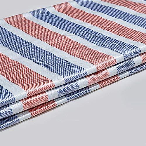 QINCH Zelt im Freien Starke Farbstreifen wasserdichtes regendichtes Plastiktuchmarkise Schatten im Freien staubdicht Winddicht (Größe   3m50m)