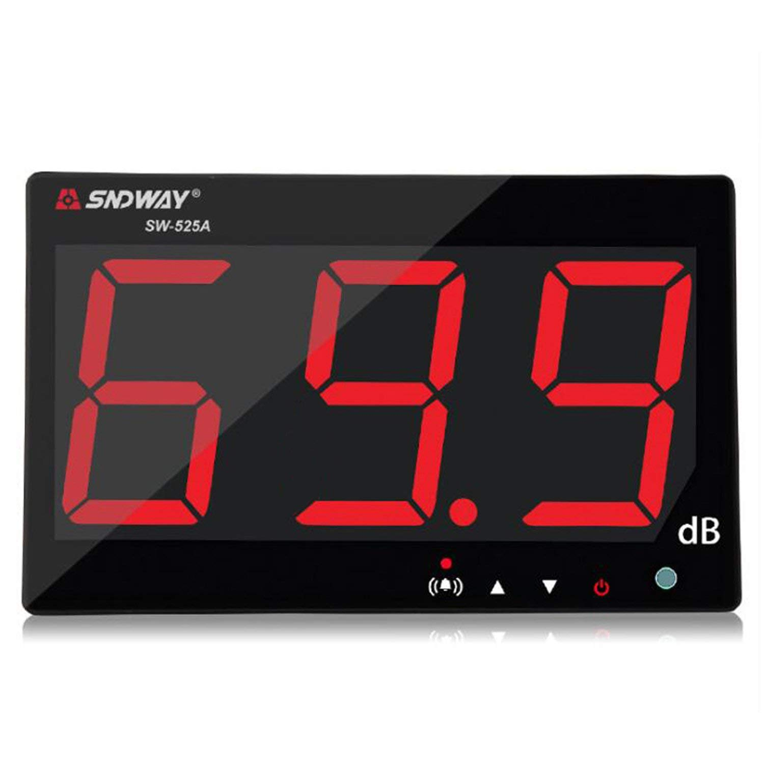 SNDWAY SW-525A 30-130dB Digital Sound Level Meter with Large LCD Display Noise Meter Decibel Wall Mounted Hanging by SNDWAY