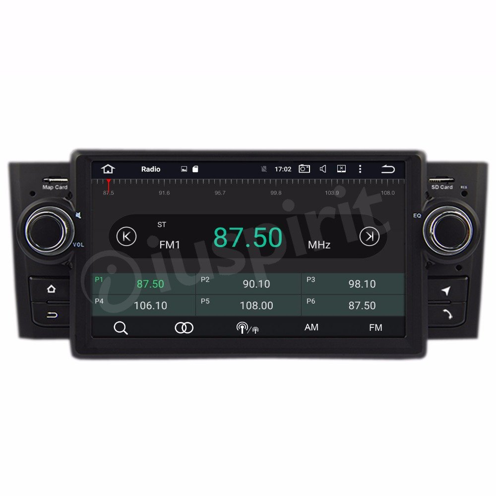 ANDROID 9.0 GPS USB SD WI-FI Bluetooth MirroLink Car Stereo Navigation Compatible with Fiat Grande Punto 2006 2008 2007 2011 2009 2010