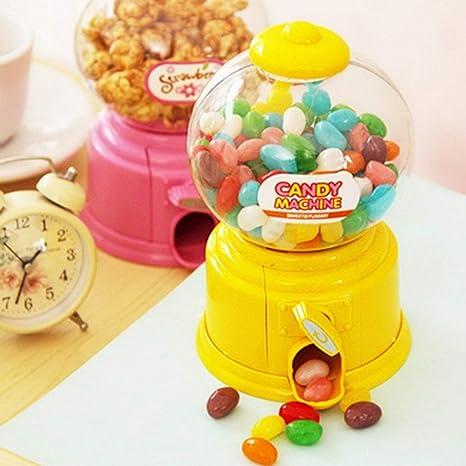 JohnJohnsen Mini máquina de golosinas de plástico Bubble Gumball Dispensador Moneda Banco Niños Juguete para Gumballs
