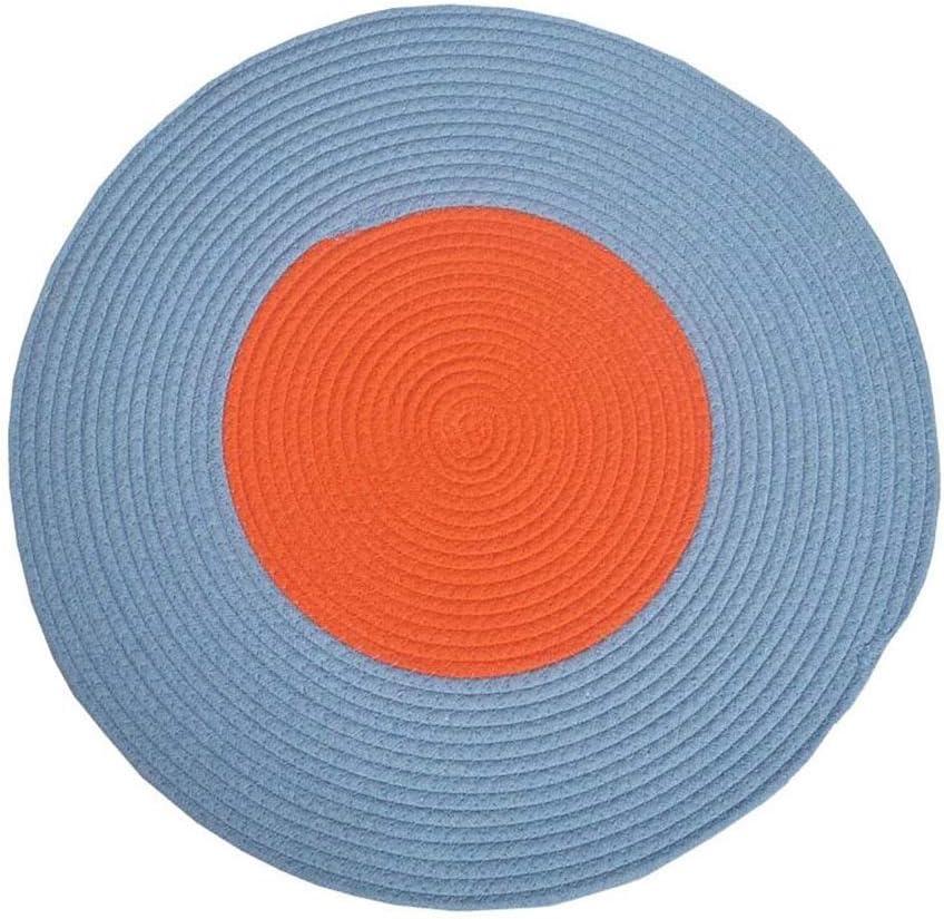 Tapis rond Antid/érapant Tapis doux et confortable Table basse Chambre Salon Chaise dordinateur de chevet Moelleux Color : #1, Size : Diameter45cm