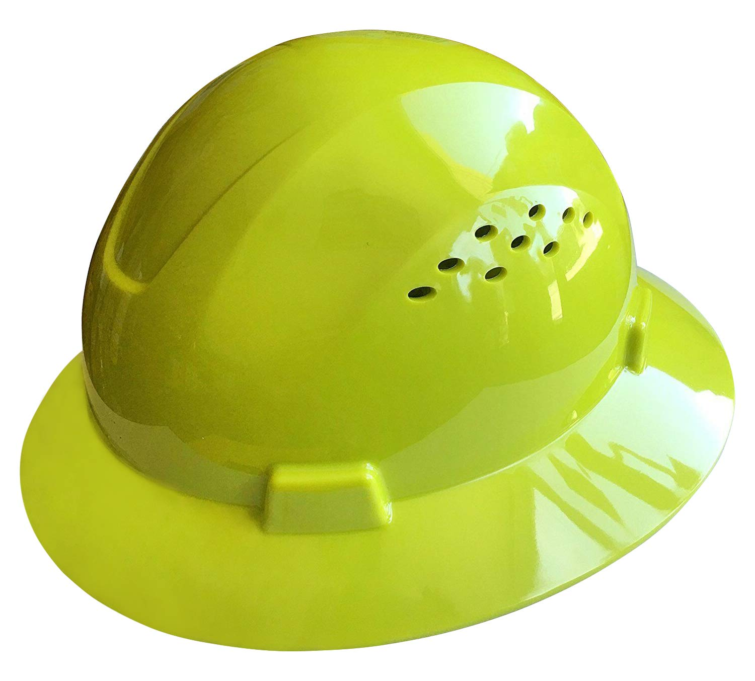 Noa Store HDPE Lime Full Brim Hard Hat with Fas-trac Suspension