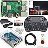 Raspberry Pi 3 B+ Kit - WiFi, Bluetooth, Raspbian, Wireless Keyboard, 16GB High-speed SD, 3A Power Supply, Clear Case