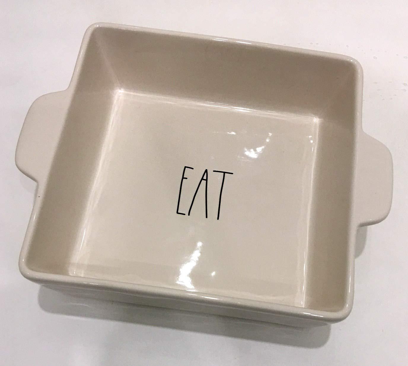 Rae Dunn Magenta Ceramic Square Baking Dish Casserole Cake Pan Eat