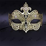 Face mask Shield Veil Guard Screen Domino False Front Party Metal mask Cosplay mask Diamonds Venetian mask mask Dance Christmas mask Female Golden
