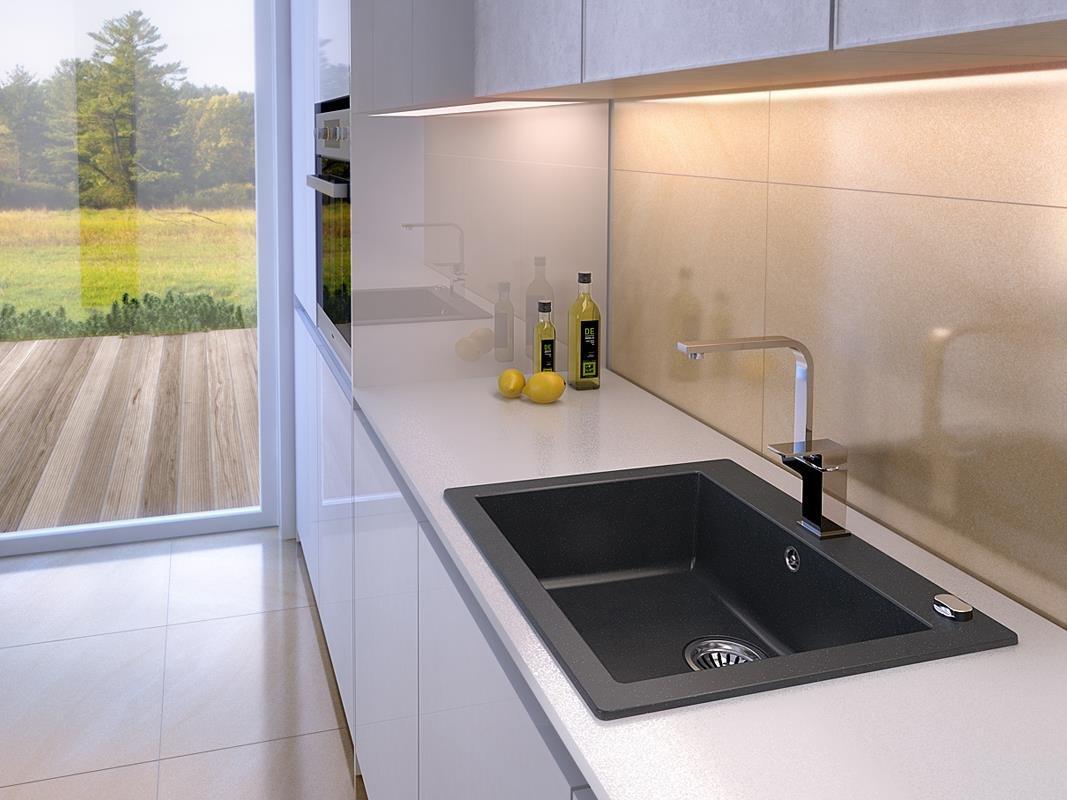 Axigran Einbauspüle Mojito 60 Küchenspüle Axis Schwarz 60er ...