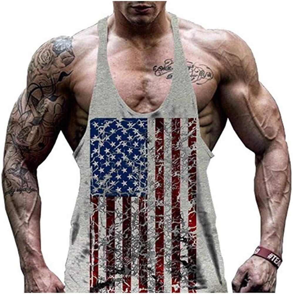 HOTCAT Uomo Canottiera per Palestra Canotte Tank Top Bodybuilding Maniche Muscolo Formazione Veste