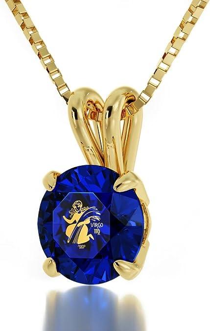Virgo Symbol Pendant Zodiac Solid Gold Personalized Virgo Sign Zodiac Pendant Dainty 14k Solid Gold Virgo Necklace Custom Zodiac